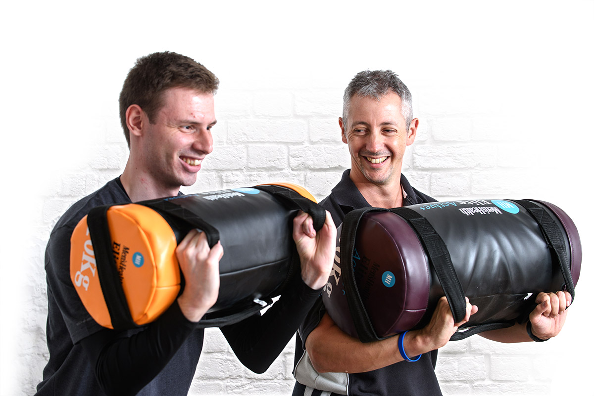 Jason Seaton of Resolve Health Physio with patient